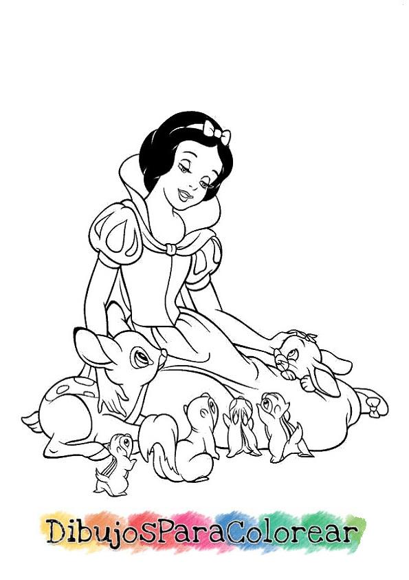 Dibujos de blancanieves para pintar y colorear - Blancanieves youtube cuento ...