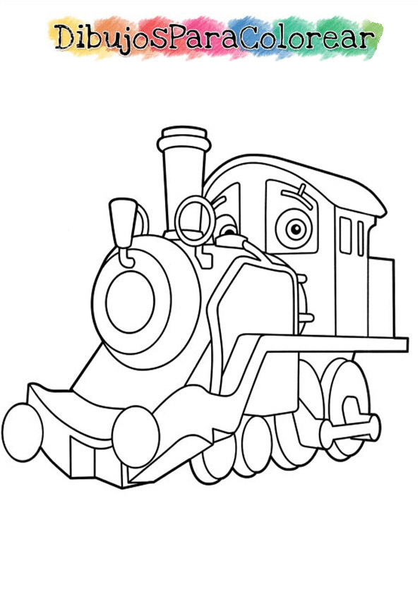chuggington para colorear dentro del tren