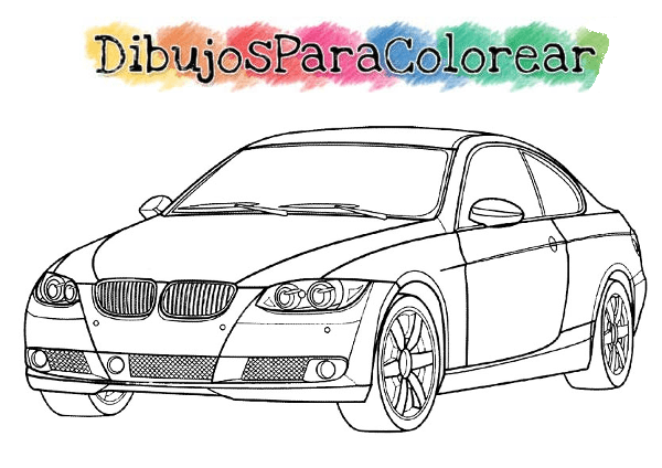 Dibujos para colorear coches tuneados ideas creativas for Coches para pintar