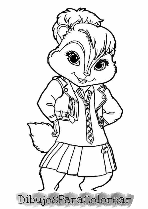 Dibujos pintar Alvin y las ardillas