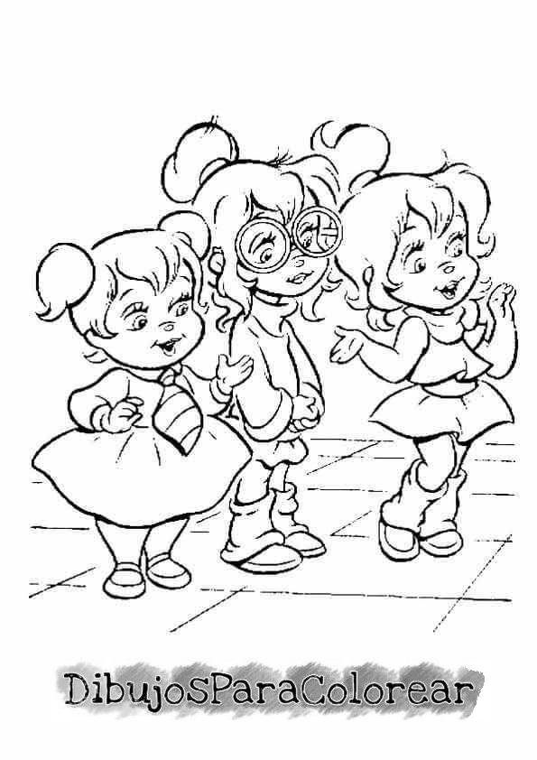 Dorable Alvin Y Las Ardillas Colorear Páginas Bretaña Imagen ...