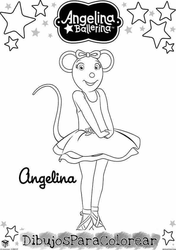 Dibujos pintar Angelina ballerina