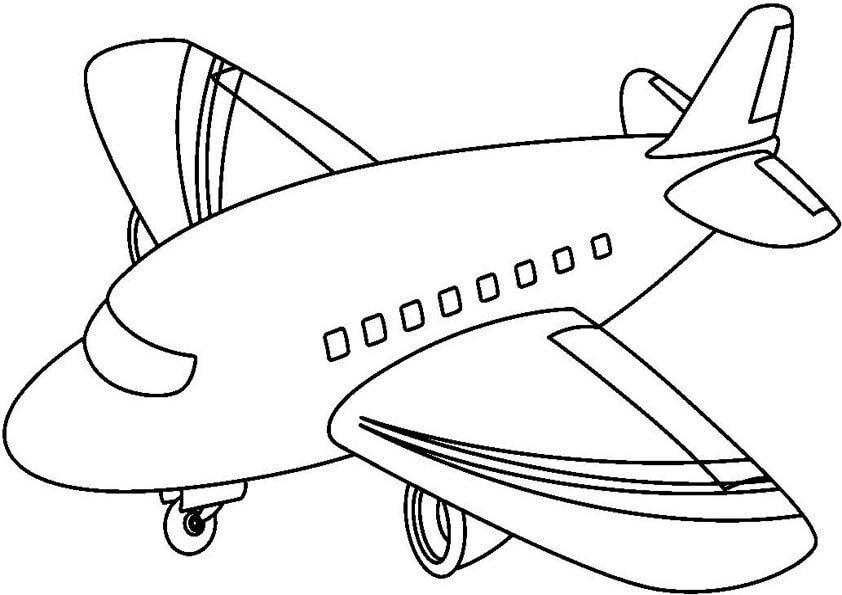 Dibujos de aviones para pintar