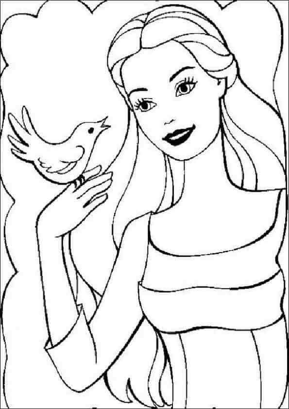 Dibujos para colorear Barbie