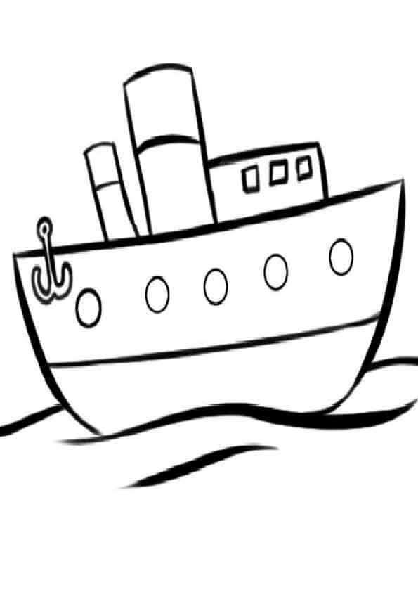 Dibujos de barcos para pintar