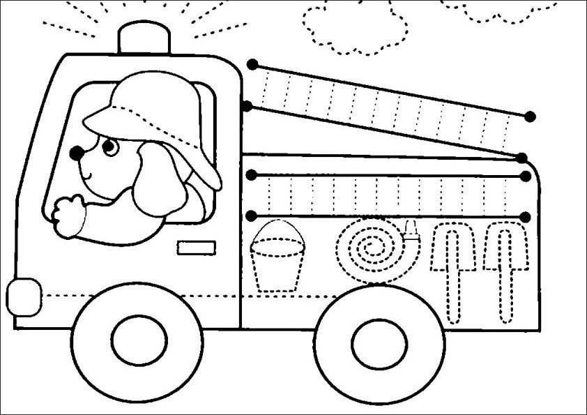Dibujos pintar de camiones