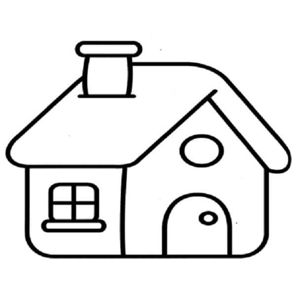 Dibujos para colorear de casas for Comedor facil de dibujar