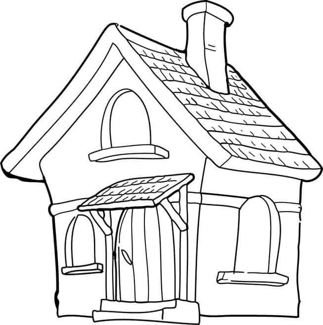 Dibujos Para Colorear De Casas De Ladrillo Ideas Creativas Sobre ...