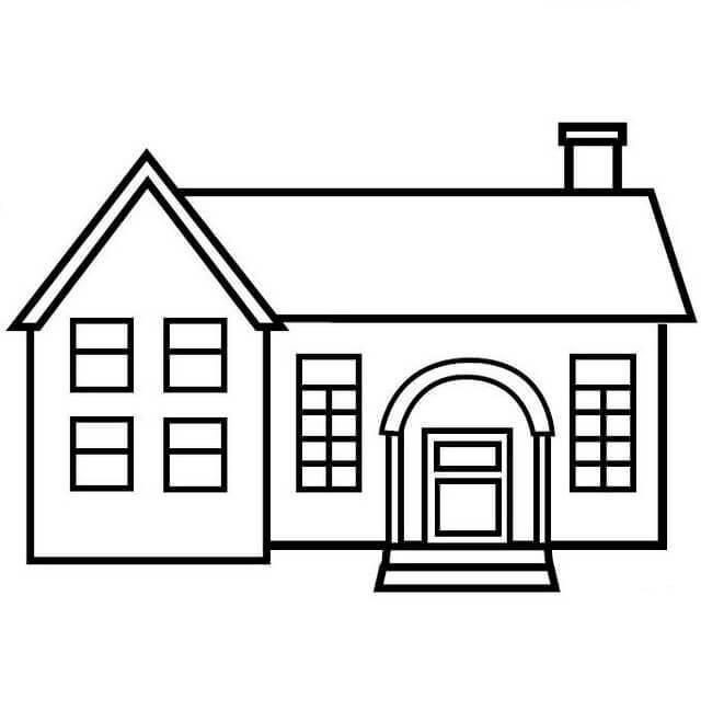 Dibujos para colorear de casas for Dibujos en techos de casas
