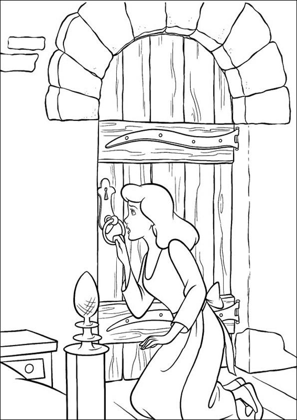 Dibujos de cenicienta para pintar