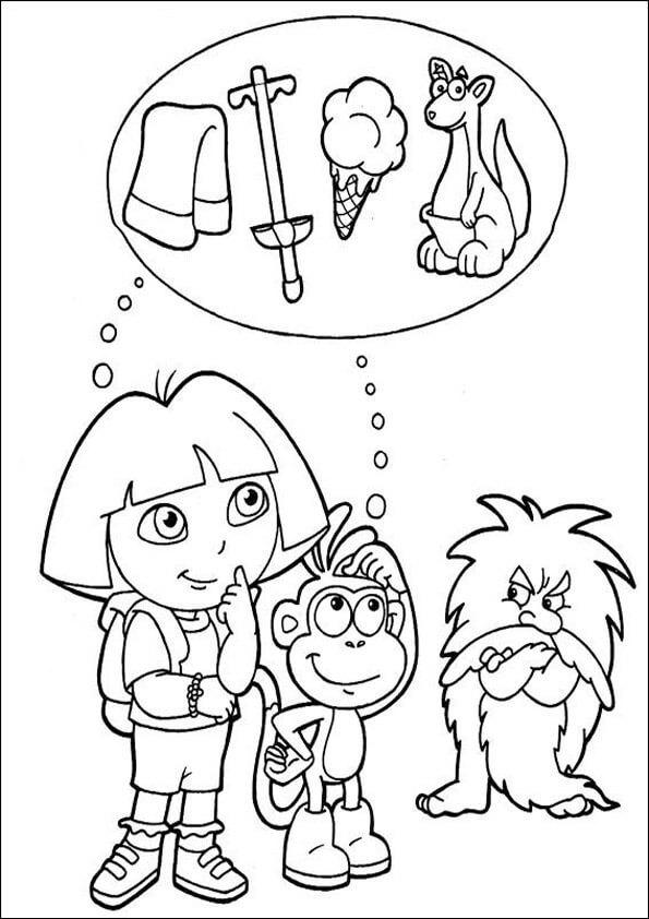Dibujos para colorear Dora la exploradora