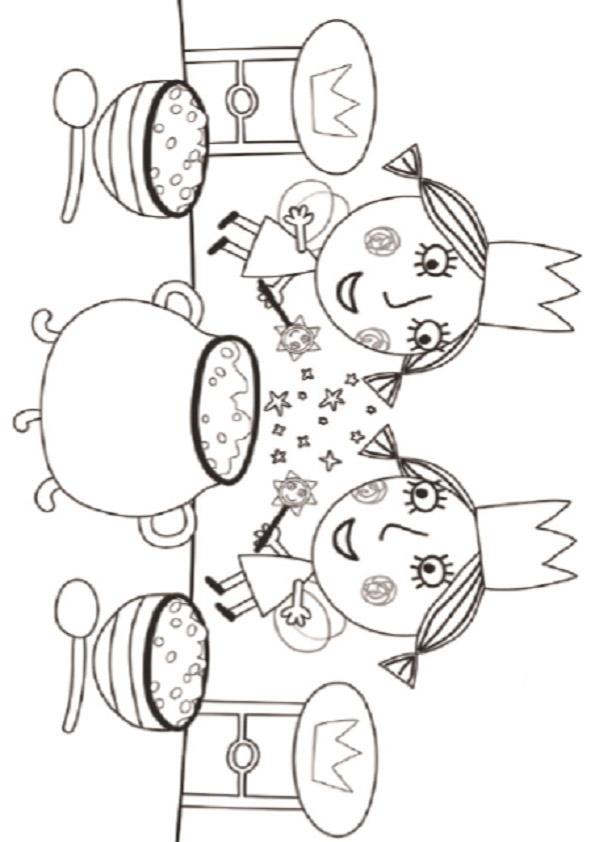 Dibujos de el pequeño reino de ben y holly para pintar e imprimir
